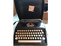 Vintage Adler Tippa S Grundig manual typewriter W Germany