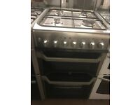 50CM STAINLESS STEEL INDESIT GAS COOKER DUEL FUEL