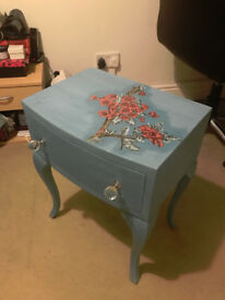 Hand-decorated bedside table