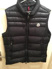 Men's moncler body warmer for sale like new with tags