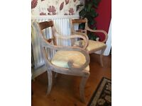 Pair of beautifully upcycled Carver Chairs.
