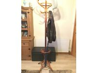 Oak real wood coat umbrella hat glove hallway stand