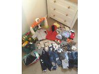 Huge bundle of 9-12 month boys clothes & shoes