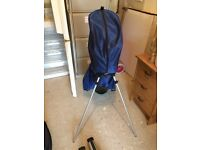 BAYHILL golf clubs & Blue Wentworth Trolley Bag, incl 3 club covers & mixed golf balls