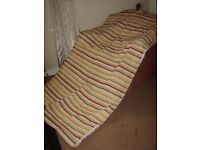Textured, Striped, Lined Curtains With Eyelets For Pole 114cms(W) x 206cms(L)
