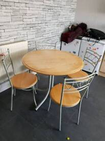 Hygena Amparo Table And Four Chairs Brand New Still Boxed From