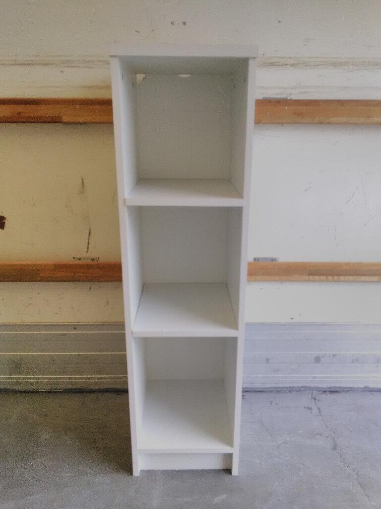 Small Narrow Bookcase Bookshelf White In Broomhouse Edinburgh Gumtree