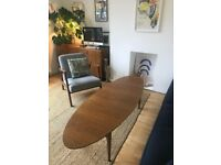 Mid century G-Plan style medium coffee table with shelf