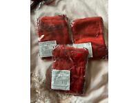 Burgundy organza gift bags