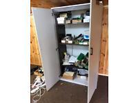 Office two door cupboard with shelves