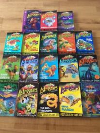 Collection of 22 Astrosaur, Cows in Action, Slime Squad books by Steve Cole