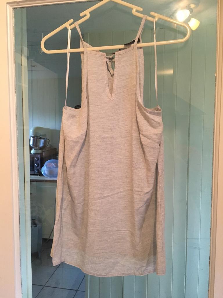 Uk 12 grey sleeveless top