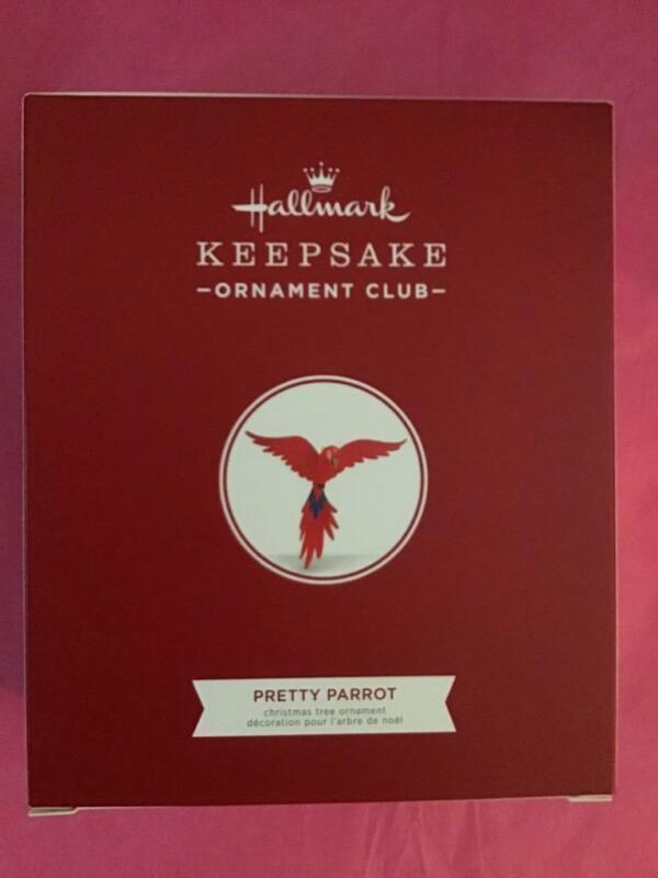 Hallmark Keepsake Ornament 2018 Pretty Parrot KOC member exclusive club bird new