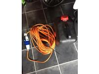 Water bottle and hook up cable
