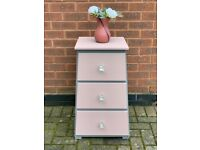 Chest of Drawers Pink & Grey
