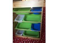 Ikea Wooden Storage Unit With 8 Trays