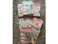 Bundle of craft / cardmaking / home craft / papercraft magazines