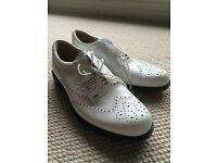 Ecco Tour Golf Shoes - White Leather Brand New UK 10. £169 RRSP