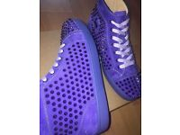 Authentic Christian Louboutin Loubs Louis Pervenche Spikes Sneakers Size 10, not LV, Arena, Giuseppe