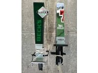 Beer pumps for sale complete with clamps and lighting wire