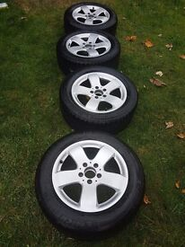 Genuine Mercedes alloy wheels with tyres for E class W211