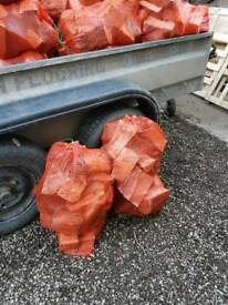 Bags of Hardwood Logs for sale