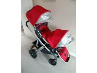 Uppababy Vista (2015 model) 2-seater Pushchair / Travel / Sleep System in Red