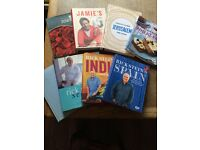 selection of recipe books featuring Rick Stein jamie Oliver Yotam Ottolenghi