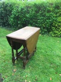 Oak Gate- legged Table