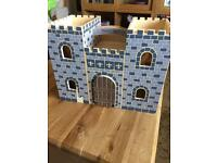 Melissa and Doug Fold and Go Castle, Wooden Toys, preschool toys, Knights