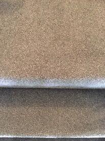 Grey stair carpet