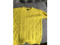 Womans yellow jumper from warehouse size 8