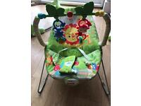 Rainforest baby bouncer -£12.50