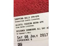 2 x tickets to British Style collective sat or Sunday 8th July