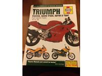 Haynes Workshop manual for Triumph Daytona, Speed Triple, Sprint and Tiger