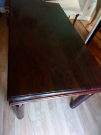 Jali solid rosewood dining table