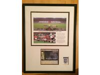 LAST EVER match at original Wembley Stadium - Framed Matchday Ticket