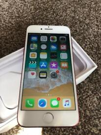 Iphone 7 128gb product red excellent condition boxed