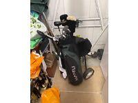 Golf clubs & trolley