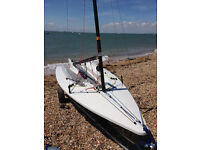 Supernova racing dinghy, combi, spare boom, c/board, has only been sailed around 8 times from new.