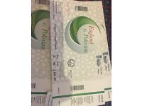 England vs Pakistan, Saturday 27th August, Upper Grand stand at the Lords Ground NW88QN