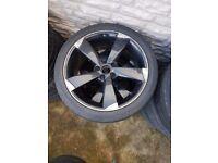 Audi 18'' Rotor Alloy Wheel Used 1x Wheel Can Post