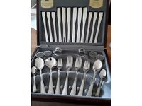 Viners 44pc Cutlery Canteen, Silver Plated - Boxed