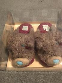 Brand new Tatty Teddy Slippers still in box, Size 3-4 ladies uk