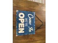 Vintage style shop sign
