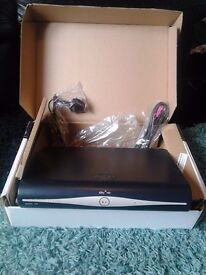 Sky plus HD box with cables and remote skybox sky+ in box