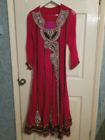 Asian suit pakistani/ indian style, fushia pink
