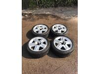 """Renault Clio 172 / 182 Sport 16"""" Alloy Wheels & Tyres 195 45 16 also fit 205 40 16 4 x 100 4x100"""
