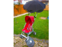 """2 position stroller """"Red Kite"""" in good condition"""