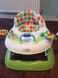 Walker, swing & bouncy chair